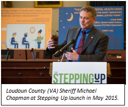 Loudoun County (VA) Sheriff Michael Chapman at Stepping Up launch in May 2015.