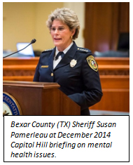 Bexar County (TX) Sheriff Susan Pamerleau at December 2014 Capitol Hill briefing on mental health issues.