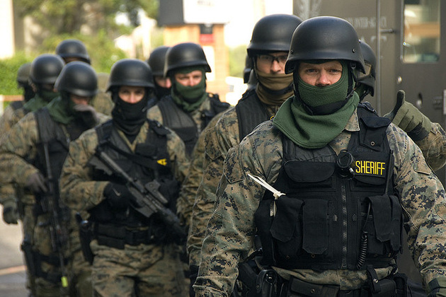 photo of police militarization